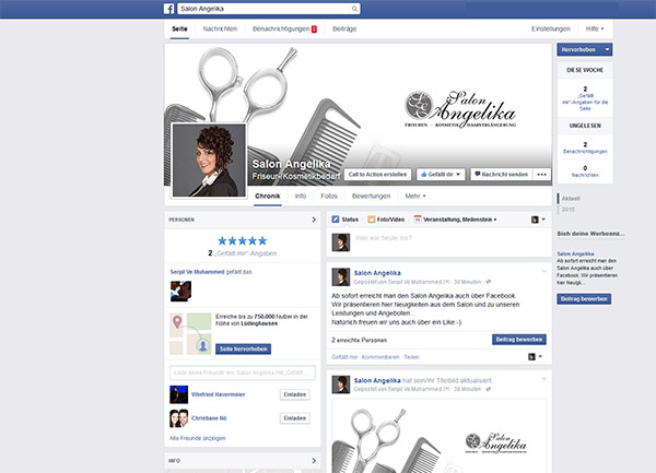 Salon Angelika auf Facebook